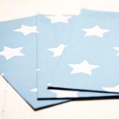 Geschenktüten - 10 Papiertüten - Sterne blau 7.5 x 13cm (04-01ZJ) - ein Designerstück von lijelove bei DaWanda