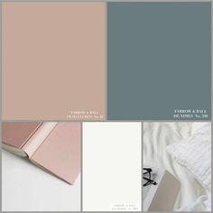 """EYGENSTIJL interieurontwerp on Instagram: """"KLEURADVIES  FARROW & BALL 'DE NIMES' No. 299 gecombineerd met 'DEAD SALMON' No. 28 en 'ALL WHITE' No. 2005. . . . #eygenstijl #styling…"""" Dead Salmon Farrow And Ball, All White Farrow And Ball, Paint My Room, Paint Colors For Living Room, Paint Colors For Home, Farrow Ball, Salmon Bedroom, Home Living Room, Living Room Decor"""