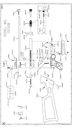 Crosman 2240 exploded view | guns | Guns, Weapons guns, Air rifle