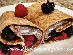 French Toast Wrap - 21 day Approved 1 Yellow, 1 Red, 1 Purple & 1 tsp of honey