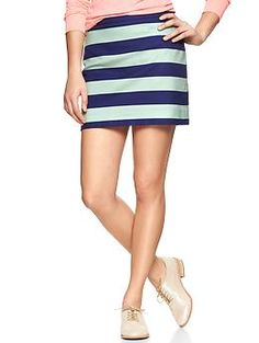 Rugby-stripe mini skirt | Gap