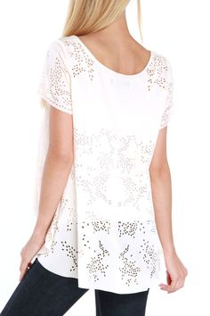 Laser Cutout Top. For the openwork.