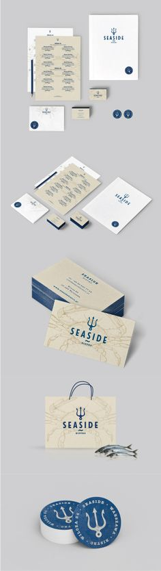 Best Brand Identity Design on the Internet, Seaside Bistro #brandidentity #branding #identitydesign http://www.pinterest.com/aldenchong/