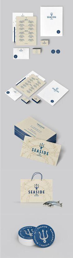 Unique Brand Identity Design on the Internet, Seaside Bistro #brandidentity #branding #identitydesign