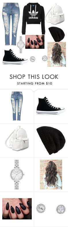 """Untitled #81"" by bosniamode ❤ liked on Polyvore featuring adidas Originals, Converse, 7 Chi, Rick Owens and Kate Spade"