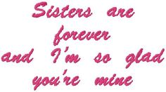 Image detail for -Sisters are forever