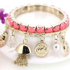 Korean Fashion All-match Gemstone Multilayer Cerise Bracelets