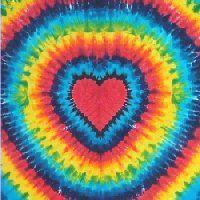 Rainbow Heart Tie-dye Tapestry