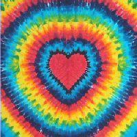 Rainbow Heart Tie-dye Tapestry