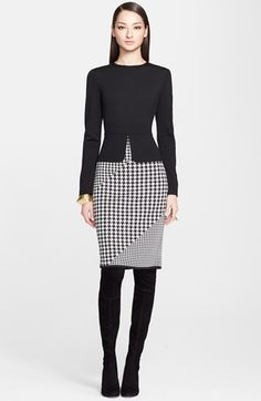 St. John Collection Milano Knit Peplum Dress available at #Nordstrom