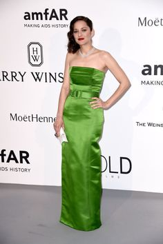Marion Cotillard. See what all the stars wore at the Cannes amfAR gala.