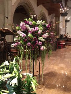 Lectern chancel flowers Easter 2015