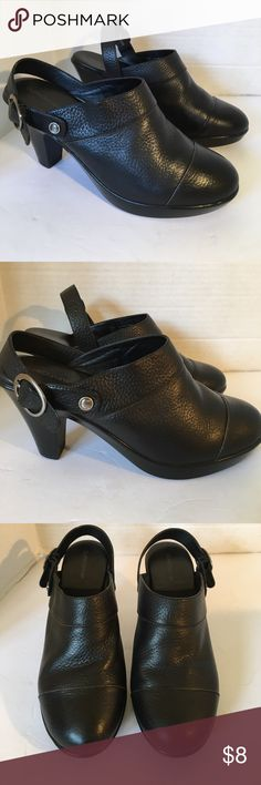 "🌺SAT SALE🌺Eurostep Leather Heels Beautiful leather heels with heel straps that buckle. Rounded toes and in excellent condition! Soles excellent condition! Like new. 2"" heels. IF YOU PURCHASE MORE THEN 1 ITEM, YOU CAN ONLY BUNDLE UP TO 3 ITEMS PER ORDER. OR YOUR ORDER WILL BE CANCELED Eurostep Shoes Heels"
