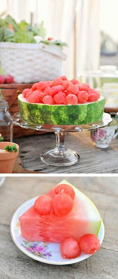 Cute and easy way to serve watermelon