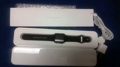 Apple WATCH SPORT 38mm Space Gray Aluminum Case Black Sport Band  #Apple