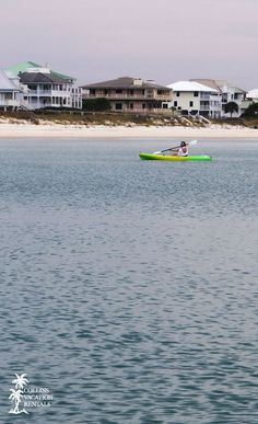 Kayaking off the shore of St. George Island, Florida