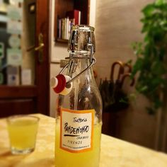 Homemade limoncello does the trick. Italian Drinks, Homemade Limoncello, Florence Food, Tuscany, Whiskey Bottle, Italy, Wine, Travel, Instagram