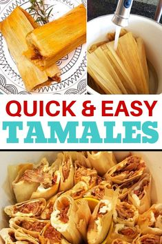 Chicken Tamale Filling Recipe, Tamale Meat Recipe Pork, Best Tamale Recipe, How To Cook Tamales, Pork Tamales, How To Make Chicken Tamales Recipe, Recipe For Tamales, Mexican Cooking, Mexican Food Recipes