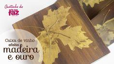 Caixa efeito madeira e ouro (Marcco Venturelli)