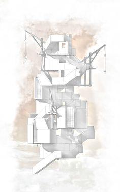 'Northumberland Hostel [TOWER 1] Concept Elevation'  Thomas Savage