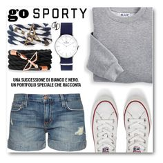 """""""Go Sporty!"""" by angelstar92 ❤ liked on Polyvore featuring Blair, Current/Elliott, Converse, sportystyle and francoflorenzi"""