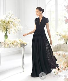 simple evening gowns with sleeves - Google Search