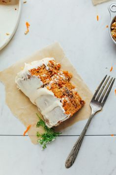 THE BEST Vegan Gluten-Free Carrot Cake! 1 Bowl, rich, moist, with 6 FROSTING options! #vegan #glutenfree #carrotcake #cake #recipe #minimalistbaker