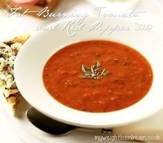 My Tasty Fat Burning Tomato & Pepper Speed Soup. #fatburning #fatburningrecipes #tomato&peppersoup