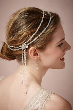 Jazz Age Halo in Shoes & Accessories Headpieces Headbands at BHLDN