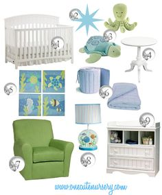 One Cute Nursery: Nautical Nursery {once again}  This would be an ideal color scheme for Sissa's house
