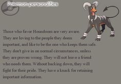 Pokemon personalities houndoom