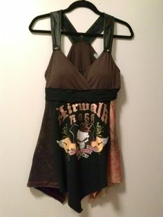 Rock & Roll Skull Tunic Med-Lg / Upcycled / by AlteredSt8Couture