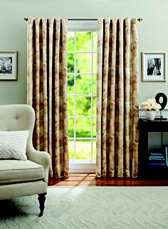 Better Homes and Gardens Leaf Scroll Thermal/Light Blocking Window Curtains, Multiple Sizes Available, Beige Window Panels, Window Curtains, Mint Rooms, Thermal Windows, Better Homes And Gardens, Window Treatments, Home Furniture, New Homes, Home And Garden