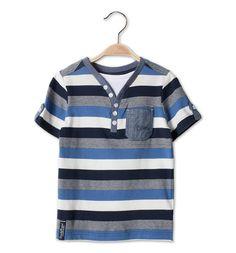Camiseta en azul / blanco