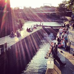 #Camden lock at #sunset - this #punk makes my #photo! Its a #kookylondon out there get the #App https://itunes.apple.com/gb/app/kooky-london/id625209296?mt=8 in the #Appstore #photography #london #photoftheday #camdenlock #ig_london #igerslondon #iphonesia #England #Britain #uk #beers by the water #kentishtown