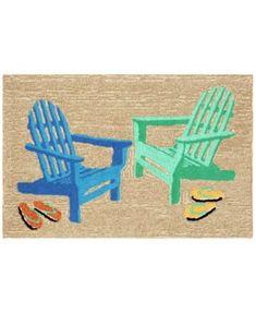 Liora Manne Front Porch Indoor/Outdoor Adirondack Seaside 2' x 3' Area Rug | macys.com