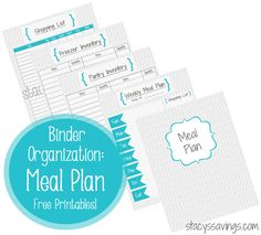 Getting Organized: Meal Planning Binder!  Free Printables!