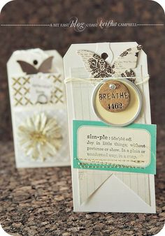 Love this tag with butterfly!