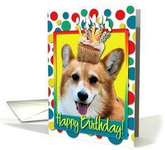 Birthday Cupcake - Corgi - Owen card (825861) by Frankz Paw Printz