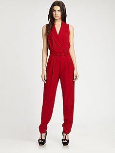 Rachel+Zoe Wool+Suiting+Jumpsuit