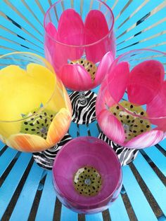 Hand Painted Oversized Floral Wine Glasses by ThePaintedPetal, $22.00
