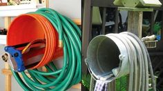 Wall-Mount a Bucket to Keep Your Garden Hose Under Control