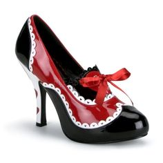 Funtasma Queen-03 4 Inch Heel, Alice In Wonderland Queen Of Hearts Shoes