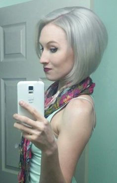 White/silver hair how to.... Bleach hair lightest blonde you can get  Tone it using wella T18  Use fanciful rinse in silver lining