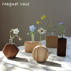 Woodworking Projects That Sell, Woodworking Crafts, Home Crafts, Diy Home Decor, Pot Jardin, Tadelakt, Small Wood Projects, Wood Vase, Wooden Planters