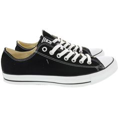 Converse Chuck Taylor All Star Sneakers ($71) ❤ liked on Polyvore featuring shoes, sneakers, black, star shoes, black sneakers, kohl shoes, converse shoes and black trainers