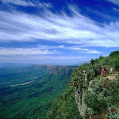 God's Window in the Mpumalanga region of South Africa. It is situated on the Drakensberg escarpment of Mpumalanga and with just one look down, you will begin to understand why it is called God's Window. Beautiful World, Beautiful Places, Beautiful Scenery, Amazing Places, South Africa Tours, South Afrika, Le Cap, Out Of Africa, Photos Voyages