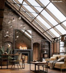 Industrial and vintage lofts to the east (PLANETE DECO a homes world) – # to … - Style Architectural Loft Interior Design, Dream House Interior, Studio Interior, Loft Design, Studio Design, Design Room, Room Interior, Exterior Design, Kids Interior