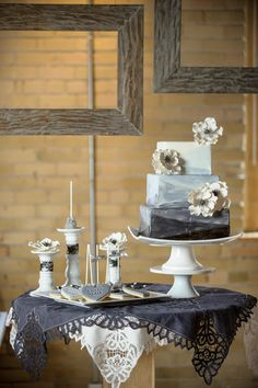 2nd Floor Events- 50 Shades of Grey Wedding Cakes Photos on WeddingWire