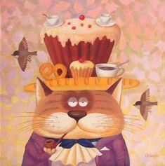 Непредсказуемые и разнообразные коты художника Романа Урбинского